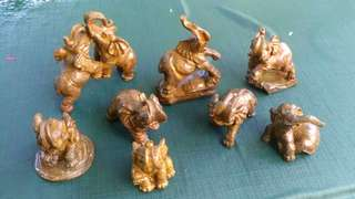 Myanmmar Brass Elephants