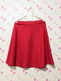 Red Twirl Skirt / Rok Merah