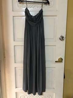 Grey Tube Gown Empire Cut