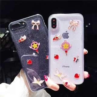 日本直送!Cardcaptor Sakura百變小櫻透明軟膠iPhone case