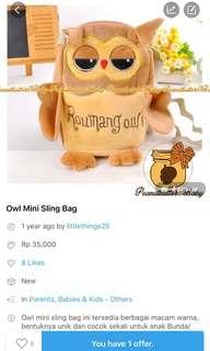 Sale-owl mini sling bag
