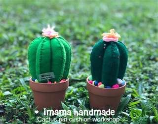 Cactus pin cushion workshop (hand stitched) @ Yishun Sat 2-5pm