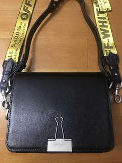 蝕讓~Off white blinder clip bag