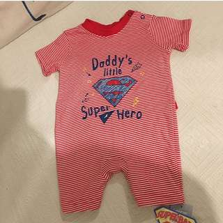 Baby NEW Superhero Baby Romper with Cape from George Uk