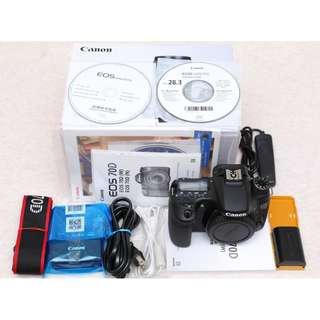 🚚 Canon DSLR 70D body 70D機身 (Flip and touch screen,WIFI)