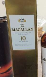 Macallan 10年700ml box, 每個