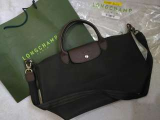 Longchamp neo dark brown MEDIUM