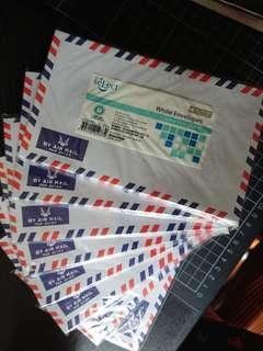 """航空信封 white envelopes """"by air mail"""""""