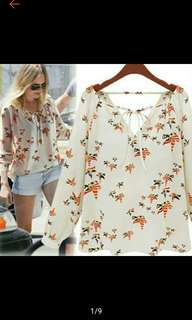 Plus Size Women Chiffon Blouse Top Short Sleeve T Shirt