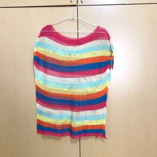 🚚 彩色洞洞針織罩衫