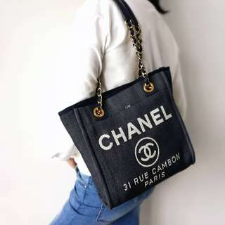 Authentic Chanel Denim PST Shoulder Bag