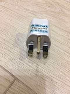 插头转换器-英标转国标-旅游用转换插头
