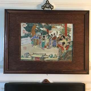 Antique Ching Porcelain Painting