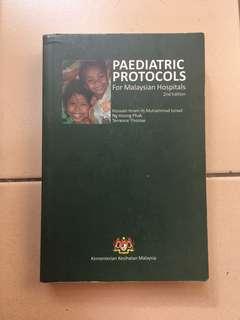Paediatric books of protocol