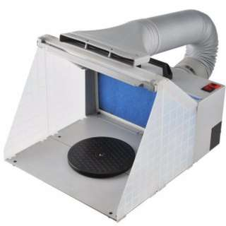 Spray Booth w/ LED Light & Extractor Hose by Hseng