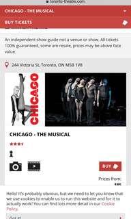 CHICAGO ED MIRVISH 2 tickets
