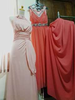 Dusty Pink Dress (free ongkir jabodetabek)
