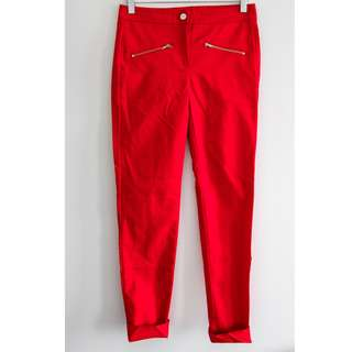 Mango suit red dress pants. Slim ankle length size 2 xs women's trousers