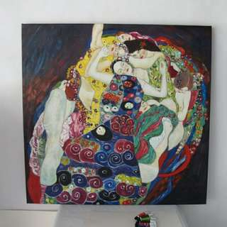Modern oil painting  Maiden by Gustav Klimtwall famous canvas art beautiful oil painting for living room