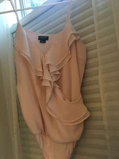 Marciano blush pink bodysuit