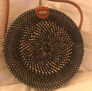 Rattan woven bag from Bali