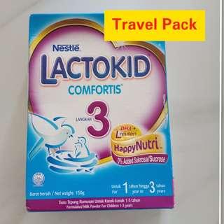 Nestle Lactokid Ckmfortis Travel Pack 150g