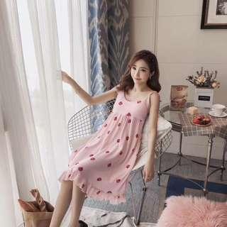 Cotton sleep dress come with padding