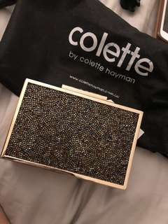 Colette clutch with dust bag