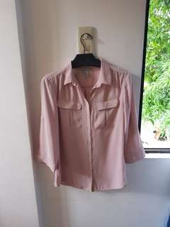 H&M Pink Blush Polo