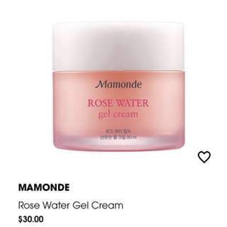 Mamonde rose gel cream moisturizer