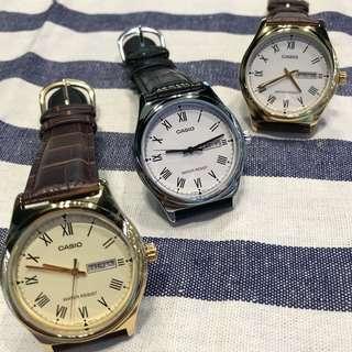 Casio 羅馬數字款 手錶 $300/隻