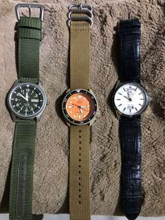 Lot of 3 (Seiko, Seiko, Orient)