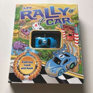 My Rally Car Fold-out Track and Book with toy car