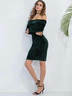 Forever21 Off-shoulder Velvet Dress