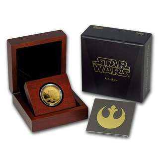 Star Wars 1/4 gold coin R2-D2