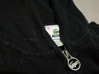 Black Lacoste Knitted Hoodie