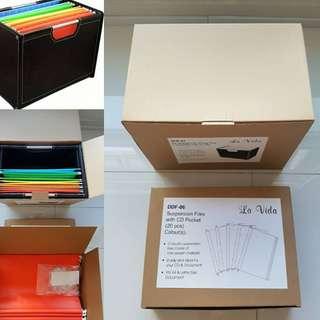 BNIB Leather File Storage Box