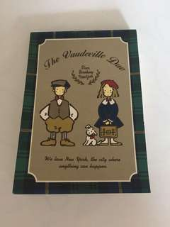 Sanrio vintage The Vaudeville Duo 狗男女 Eddy & Emmy memo pad 1994