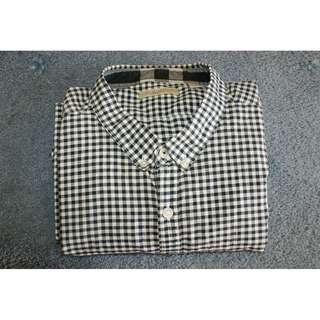 BURBERRY BRIT | XXXL 3XL dress shirt | navy gingham
