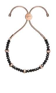 Mimco Dali Bracelet Black Rose Gold $25