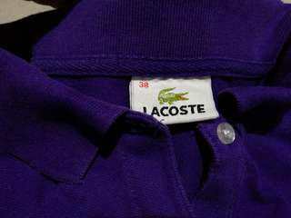 Purple Lacoste Polo Shirt