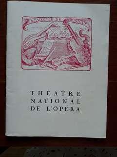 Opera Season 1966/1967 (French)