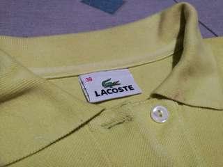 Pastel Yellow Lacoste Polo Shirt