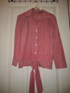 Pink Tie Top