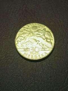 Syiling $1 30 Tahun Merdeka (1957-1987)