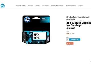 BNIP HP 950 Officejet Black Original Ink Cartridge. HP Officejet Pro 251dw, 276dw, 8100, 8600, 8600 Plus