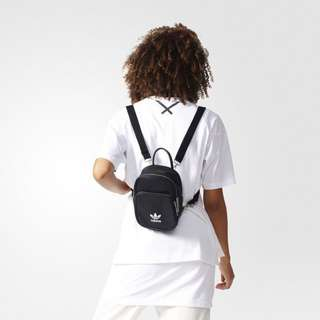 愛迪達 adidas backpack mini迷妳 皮革 黑色 後背包 小包