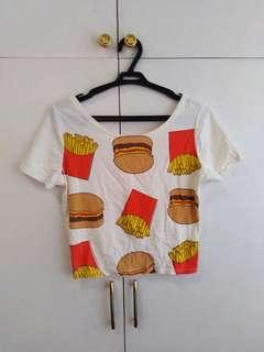 Burger and fries croptop S - M