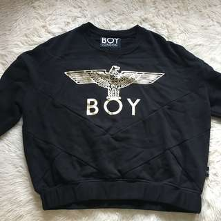 BOY LONDON Crop 3/4 sleeve crewneck