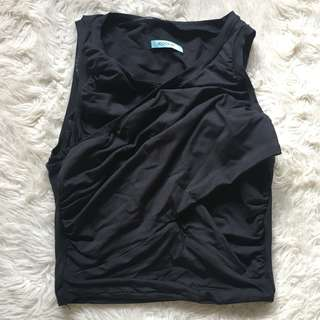 Black Kookai Crossover Crop Size 1